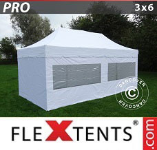 Canopy 3x6 m White, incl. 6 sidewalls