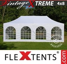 Canopy 4x8 m White, incl. 6 sidewalls