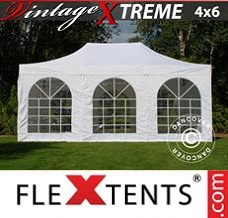 Canopy 4x6 m White, incl. 8 sidewalls