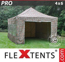 Canopy 4x6 m Camouflage/Military, incl. 8
