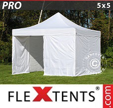 Canopy  5x5 m White, incl. 4 sidewalls