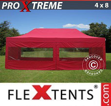 Canopy 4x8 m Red, incl. 6 sidewalls