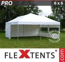 Canopy 6x6 m White, incl. 8 sidewalls