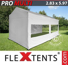 Canopy 2.83x5.87 m White, incl. 6 sidewalls