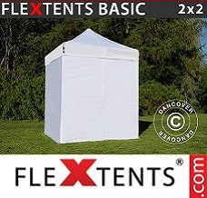 Canopy  2x2 m White, incl. 4 sidewalls