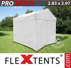 Canopy  2.83x2.97 m White, incl. 4 sidewalls