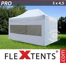 Canopy 3x4.5 m White, incl. 4 sidewalls