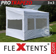 Canopy 3x3m White, incl. 4 sidewalls