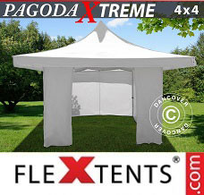 Canopy 4x4 m / (5x5 m) White, incl. 4 sidewalls