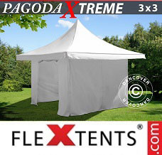 Canopy 3x3 m / (4x4 m) White, incl. 4 sidewalls