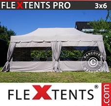 Canopy 3x6 m Latte, incl. 6 sidewalls and 6...
