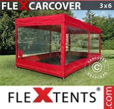 Canopy 3x6 m, Red