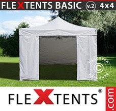 Canopy 4x4m White, incl. 4 sidewalls