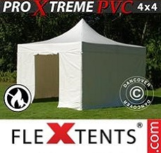 Canopy  4x4 m White, Incl. 4 sidewalls