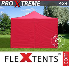 Canopy 4x4 m Red, incl. 4 sidewalls
