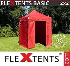 Canopy 2x2 m Red, incl. 4 sidewalls
