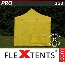 Canopy 3x3 m Yellow, incl. 4 sidewalls
