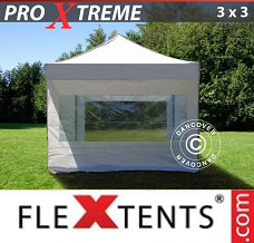 Canopy 3x3 m White, incl. 4 sidewalls
