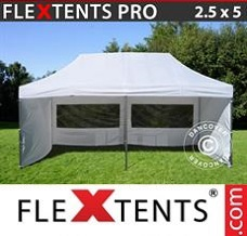 Canopy 2.5x5m White, incl. 6 sidewalls