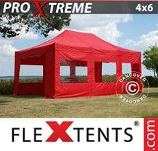Canopy 4x6 m Red, incl. 8 sidewalls