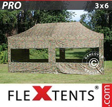 Canopy 3x6 m Camouflage/Military, incl. 6 sidewalls