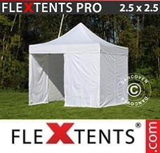 Canopy 2.5x2.5 m White, incl. 4 sidewalls