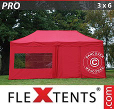 Canopy  3x6 m Red, incl. 6 sidewalls